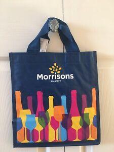 Morrisons Wine Bottle Bag 6 bottles wine spirit carrier bag Navy Blue- BNWT