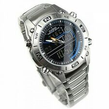 Casio Mens Watch AMW-703D-1A Analogue Digital Fishing Gear Moon Mode Stainless