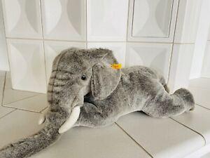Steiff - Riesig Elefant Molly EAN 101397 70 cm **Neu** Brustschild, Knopf, Fahne