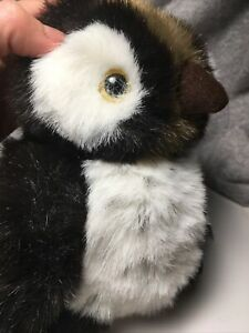 """NWT Princess Soft Toys Brown and White Hooter Owl Plush 9""""- From Nordstrom!!!"""