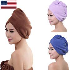 Turbie Twist 100% Microfiber Hair Towel Wrap Drying Cap Hat Loop Button 5 Colors