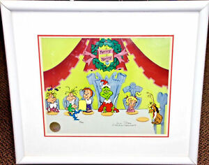 Grinch Cel Who Christmas Feast Signed Chuck Jones Animation Art Cell