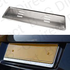 Stainless steel number registration license plate surround holder UK EU Chrome