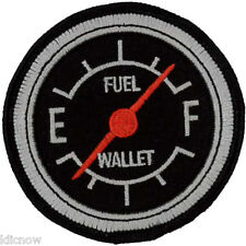 Fuel Gauge /Wallet embroidered Patch  8cm Dia
