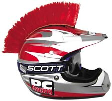 MOTORCYCLE ATV QUAD DIRT ROAD BIKE HELMET MOHAWK RED (Helmet Not Included)