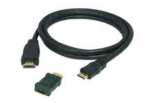 0,5m 4K High Speed Mini HDMI Kabel + Adapter (UHD 4Kx2K, Full HD, 3D, ARC, CEC)