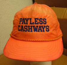 PAYLESS CASHWAYS neon baseball hat 1980s dayglo cap building IOWA