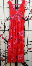 Vintage 60s/70s Anne Fogarty Collector's Items Vibrant Red Flower Print Size 8