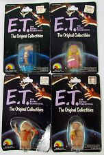 Vtg E.T. The Extra Terrestrial Lot of 4 Figures by LJN Sealed MOC ET NIP MIB