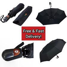 Automatic Travel Umbrella Auto Open Close Compact Folding Rain Windproof Teflon