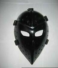 Vintage Fiberglass Hockey Goalie Mask and Halloween mask -Black