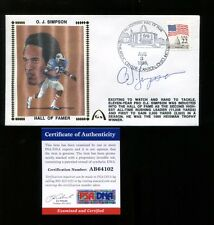 O.J. Simpson Signed FDC First Day Cover Autographed Bills PSA/DNA AB64102