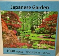 """Japanese Garden 1000 Piece Jigsaw Puzzle 27"""" X 20"""" Puzzle Series New"""
