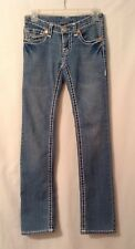 True Religion Billy Super T Top Stitched Light Wash Size 27