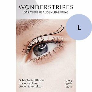 Wonderstripes Augenlid Pflaster, transparent, Größe L  (60 Stück)