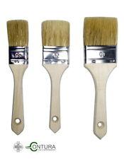 3 tlg Pinselset Pinsel für Kreidefarbe Flachpinsel Shabby Chic Lackierpinsel Set