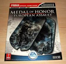 Medal of Honor-European Assault-prima Official Game Guide-NEUF emballage d'origine