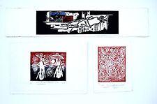 Hans Burkhardt Lithographs Set of Three