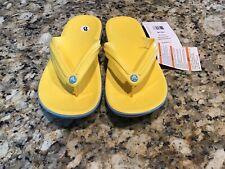 Crocs Bayaband Flip Flops Yellow M6 W 8 New