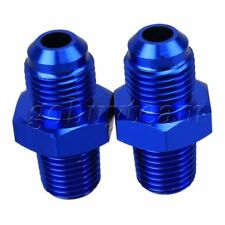 """2pcs AN6 Male to Male 1/4"""" NPT Straight Flare to Fuel Oil Thread Fitting Adapter"""