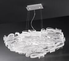 Lampadario contemporaneo in vetro di cristallo coll. BELL gloria 1360/S7L