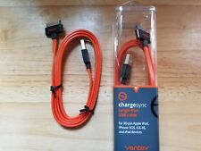 Ventev Charge & Sync Cable for Apple iPhone/iPodTouch/iPad 30-Pin (Orange)