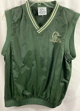 Ducks Unlimited Men's Green V Neck Vest Size Medium Nylon Lined
