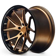 "(4) 20x10/20x11.5"" Ferrada Wheels FR2 Matte Bronze with Gloss Black Lip(B31)"