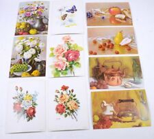 """Lot 10 Vintage DAC NY Still Life Frame-able LITHOGRAPH Card Stock PRINTS 5"""" x 7"""""""