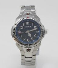 Orologio Sector 250 sub 100 metri in acciaio watch solo tempo con datario clock