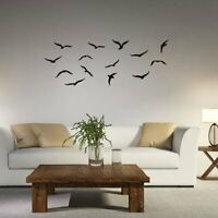 57*22cm Flying Birds Wall Stickers Black Small Art Decal Wall Murals Home Decor