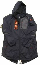Nike NFL Chicago Bears Women's Navy Full Zip Packable Hooded Jacket Size XXL