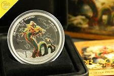 Tuvalu Dragons of Legend Chinese Dragon 1 onza Oz plata pp 2012