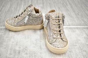 Giuseppe Zanotti Kids Oldglitt Sneaker, Toddler Girl's Size 3.5-4/EU 19, Metal