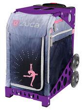 Zuca Bag Ice Dreamz Lux Insert & Purple Frame w/Flashing Wheels - Free Cushion