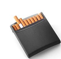 Stylish Art Deco Cigarette Case Tobacco Box Flip Top Open Folding Lid Mens Black