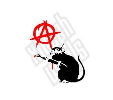 Anarchy Rat Banksy vinyl sticker decal laptop ipad Anarchist car window optional