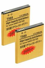2x 2450mAh High Capacity Batteries -Samsung Galaxy S2 T-Mobil T989 Skyrocket 727