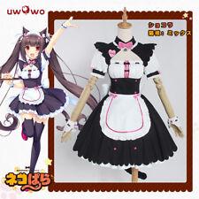 Atractiva animé nekopara Chocolat Kawaii desgaste Halloween Fiesta Disfraz Cosplay Maid