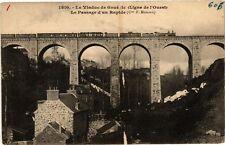 CPA  Le Viaduc de Goué de (Ligne de l'Ouest) - Le Passage d'un Rapide   (243679)