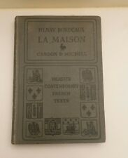 Henry Bordeaux La Maison Cardon and Michell 1923 FREE SHIPPING