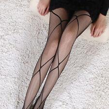 Donna sexy/Sissy Sheer stringati coscia alta calze di seta (Int)