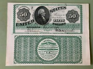 1862 $50 LEGAL TENDER CURRENCY PROOF - Heath Counterfeit Detector