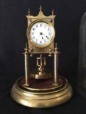 Rare 2 1/2� Dial Pre Ww1 400 Day Torsion Anniversary Clock By Jahresuhrenfabrik