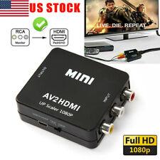 RCA AV to HDMI 1080p Converter Adapter AV CVBS Video For Wii-NES SNES PS1