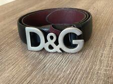 Black Dolce And Gabanna D&G Belt Size 36 / 90cm