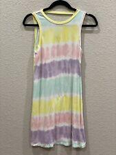 tie dye Sleeveless dress Large 10/12 #D1