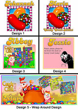 Personalised Candy Crush Mug - Any Name or Msg - Many Designs - Gift Idea - Game