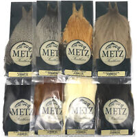 METZ ROOSTER NECK, GRADE #3 - Fly Tying Hackle Feather Hair Extensions Cape NEW!