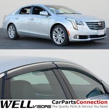 WellVisors Window Visors 13-18 For Cadillac XTS SEDAN Side Deflector Chrome